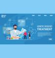 Genetic disease treatment service landing page