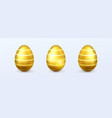 gold realistic easter eggs vector image