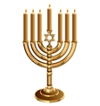 Hanukkah candleholder with 7 candles Candlestick