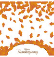 happy thanksgiving day background autumn falling vector image vector image