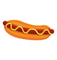 hot dog icon cartoon style vector image vector image