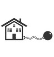 house with metal shackles vector image vector image