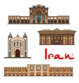 Iran famous architecture icons vector image vector image