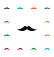 isolated moustache icon barber element can vector image vector image