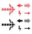 isolated object of element and arrow symbol vector image vector image