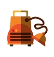 Isolated vacuum cleaner machine design vector image vector image
