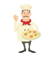 Italy chef icon cartoon style vector image
