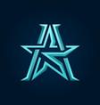 letter ka or ak star logo
