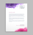 letterhead design in paint style vector image vector image