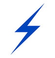lightning flat icon vector image vector image