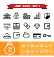 Line icons set 5 vector image vector image