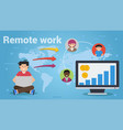 long business flat concepts of remote work vector image vector image