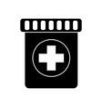 medication bottle icon image vector image