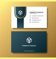 modern luxury business card background template vector image