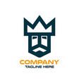 modern simple logo kings head vector image vector image