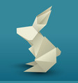 origami hare 3d vector image vector image
