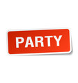 party square sticker on white vector image vector image