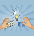 paying for innovation and creativity vector image
