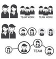 People Symbol Business Team Concept vector image vector image