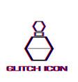 perfume bottle icon flat vector image vector image