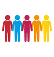 person group think people vector image vector image
