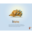 polygonal of Hedgehog modern low poly animals icon vector image