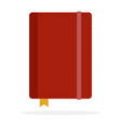 private diary with a bookmark flat isolated vector image vector image