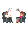 psychologist depression consultation advice vector image
