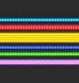 realistic seamless led colorful strip set vector image vector image