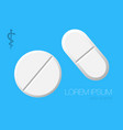 realistic white pills and tablets isolated on vector image vector image