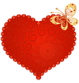 romantic vintage heart vector image