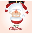 santa claus hanging merry christmas isolated vector image vector image
