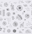 seamless pattern on a scientific topic vector image