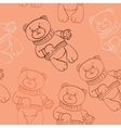seamless pattern with bears boys vector image vector image