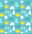 seamless pattern with silhouette of transport vector image