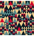Seamless Red Navy Blue Tan Colors Geometric vector image