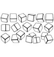 set cubes in different positions vector image vector image