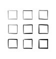 Set of hand-drawn squares vector image vector image