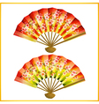 Set of Japanese fans vector image vector image