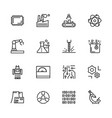 simple icon set scientific industry production vector image vector image