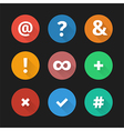 Simple web icons set 001 vector image vector image