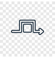 square concept linear icon isolated on vector image