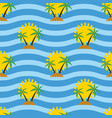 stylized seamless travel background with tropical vector image vector image