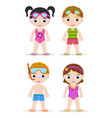 swimming pool kids vector image vector image