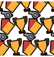 trophy cards whistle football soccer icon image vector image vector image