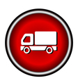 Truck Icon on white background vector image vector image