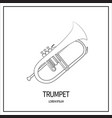 trumpet isolated icon vector image vector image