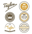 Vintage logo badge emblem or logotype elements vector image