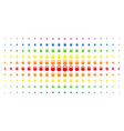 weight spectral halftone pattern vector image