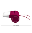 White and Red Whistle of State of Qatar vector image